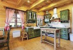 interiér roubenky - Hledat Googlem Happy Kitchen, Country Kitchen, Furniture, Design, Facebook, Home Decor, Type 3, Kitchen Ideas, Kitchens