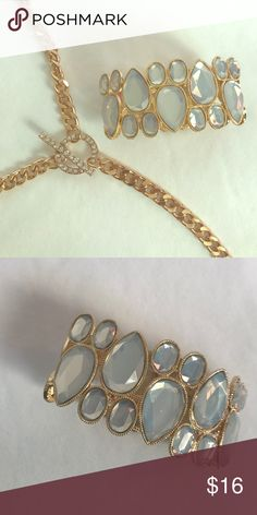 Gold and Glass Bracelet This is a gold and glass bracelet. Brand new. Jewelry Bracelets