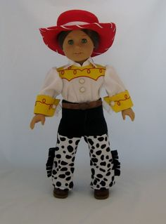 "Jesse Cowgirl Costume for 18"" dolls $43.00"