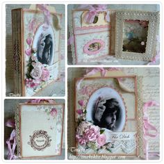 """Book Card created by LLC DT Member Tina Klix, using papers from Pion Design's """"For Mother"""" collection."""