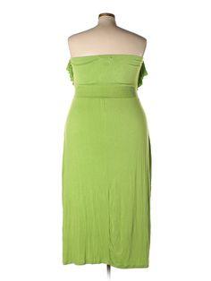 Ashley Stewart Casual Dress: Size 24.00 Green Women's Dresses - $13.99