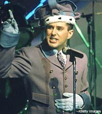 Holly Johnson from Frankie Goes to Hollywood.  He's old and not so good looking now, but he used to be a cutie that I had a crush on :)