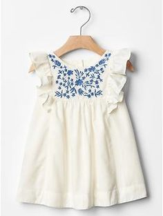 Embroidered ruffle dress | Gap