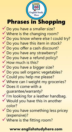 17 English Phrases in Shopping - English Study Here