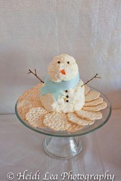 snowman cheese balls - what a cute idea! I love making cheese balls