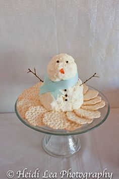 snowman cheese balls - too cute!