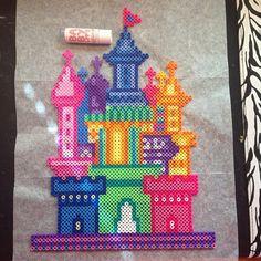 Fairy castle perler beads by Katie Binesh