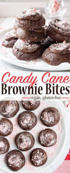 Vegan Candy Cane Brownie Bites | www.veggiesdontbite.com | #vegan #glutenfree #plantbased #holidays via @veggiesdontbite
