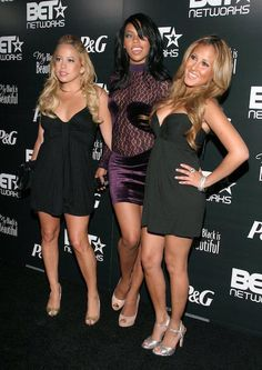 Sabrina Bryan, Kiely Williams and Adrienne Bailon (Left to Right) at group's Pre-BET Awards Party on June 25, 2007...