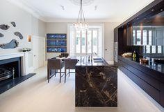 Grosvenor Crescent by Paul Davis + Partners in London Interior Design Brief, Interior Design Elements, Interior Design Kitchen, Interior Design Inspiration, Interior Styling, Interior Ideas, Kitchen Fan, Kitchen Decor, Beautiful Kitchens