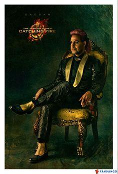 Twitter / Fandango: Exclusive 1st look of Caesar Flickerman from Catching Fire
