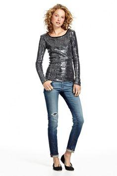Azura Boutique - Chan Luu Sequin Long Sleeve Top, $236.00 (http://www.shopazura.com/fully-sequin-l-s-top/)