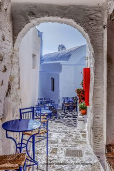 Cafe in Amorgos, Greece