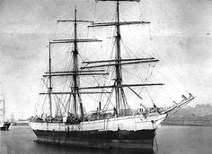 """Le trois-mâts barque """"Le Pilier"""", built by Chantiers de la Loire, Nantes in 1902 was owned at the time of her loss by Jean-Baptiste Etienne, Nantes and Geo Bell, Buenos Ayres, was a French bark of 2427 tons. On May 2nd, 1916, """"Le Pilier"""", on a voyage from London to Buenos Ayres in ballast, was torpedoed and sunk by the Germans"""
