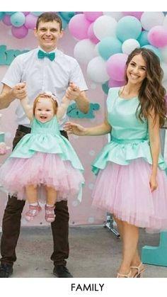 Buy stylish family dress. Combo Dress, Frocks, Harajuku, Tulle, Stylish, Skirts, Baby, Dresses, Fashion