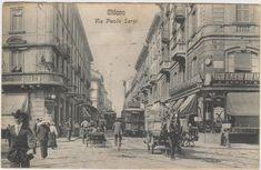 Via Paolo Sarpi (da piazza Baiamonti) nel 1909