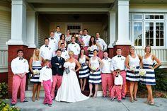 Palmetto Riverside Bed and Breakfast // nautical bright wedding // photo credit: Schwarzbild Wedding Photo // Vineyard Vines men's and boys pants // Sandee Royalty Etsy shop // coastal Florida