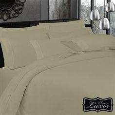 """Glacier Gray"" Luxor Egyptian Cotton Flannelette Sheet Queen"