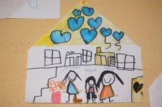 * Vouw je huis en teken in het huis wie er allemaal bij jouw gezin horen