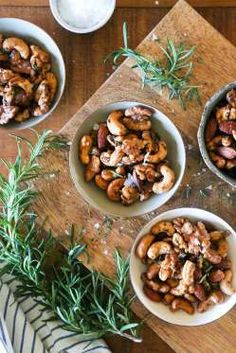 Mixed nuts are simple, but satisfying — take it up a notch by adding spices and rosemary to your own... - Kitchen of Confidence
