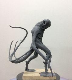 Alien/Concept sketch plasticine uDock/2014