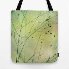 """Grass"" Tote Bag by Lena Weiss - $22.00"