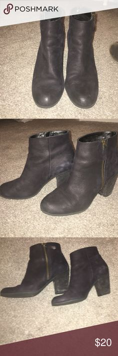 Cute black booties! B.P (Nordstrom) black booties. So comfortable. I have them in so many colors! Side zipper. Worn maybe 2x max. BP Shoes Ankle Boots & Booties