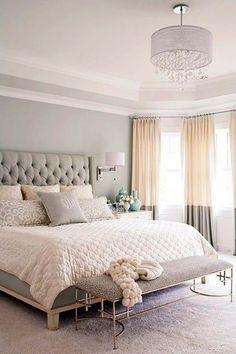 Home Decor Ideas Gray white and tan bedroom decor bedroom Master Bedroom Design Inspiration Tan Bedroom, Small Master Bedroom, Master Bedroom Design, Bedroom Sets, Home Decor Bedroom, Bedroom Designs, Bedding Sets, Pastel Bedroom, Trendy Bedroom