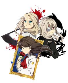 Angels of death,Ib,Noel and the mortal fate RPG Horror Ib Game, Game Art, Awesome Anime, Anime Love, Ib And Garry, Alice Mare, Mad Father, Corpse Party, Rpg Horror Games