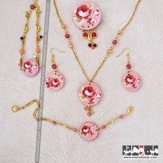 ست کامل گل گلی صورتی: جهت آگاهي از جزئيات اين محصول و چگونگي خريد آن، لطفا به فروشگاه اينترنتي صنايع دستي من و هنر مراجعه فرماييد. www.manohonar.com Jewelry, Fashion, Moda, Jewlery, Jewerly, Fashion Styles, Schmuck, Jewels, Jewelery