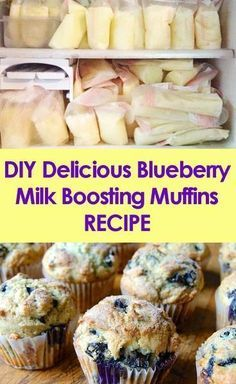 DIY Delicious Blueberry Milk Boosting Muffins Recipe Boost Lactation Production in an easy, delicious, and healthy way!