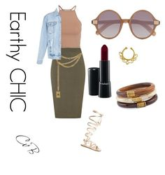 """Earthy chic"" by queenofself ❤ liked on Polyvore featuring NLY Trend, Lipsy, Gianvito Rossi, Moschino, New Look, Chico's, MAC Cosmetics and Elizabeth and James"