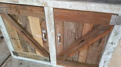 Barn wood Potting bench by ADashofWood on Etsy