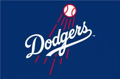 Los Angeles Dodgers Alternate Logo (2012) - Primary logo on a blue background