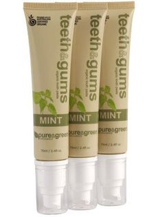 Pure & Green Teeth & Gums Organic Toothpaste.