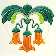 art nouveau tile - Angel's 🎺 ? Motifs Art Nouveau, Azulejos Art Nouveau, Art Nouveau Pattern, Antique Tiles, Vintage Tile, Antique Art, Vintage Art, Art Nouveau Tiles, Art Nouveau Design