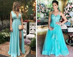 Vestido de Madrinha Azul: Dicas para Escolher o Modelo Perfeito! Vestidos Verde Tiffany, Bath And Beyond Coupon, Plus Size, Formal Dresses, Outfits, Dragon Ball, Fashion, Tiffany Blue Party, Blue Party Dress