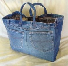 old jeans Bag and I would love one!
