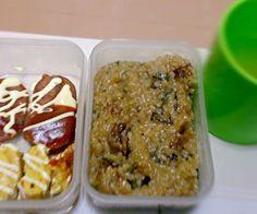切り餅を入れて土鍋で炊きました(о´∀`о) もちもちですんごいおいしー(*^^*) - 2件のもぐもぐ - 山菜おこわ弁当♪ by erinayaka