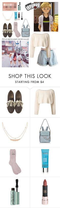 """sorry I can't be that guy - don't expect too much."" by chaiteahyung ❤ liked on Polyvore featuring UNIF, Stephen Webster, Chloé, M&Co, Maybelline, Givenchy, Too Faced Cosmetics, Bobbi Brown Cosmetics, croptop and backpack"