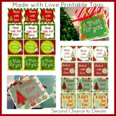 Made by Love Printable Gift Tags