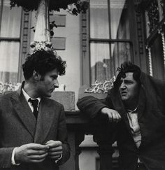 """holdhard: """" Lucian Freud and Brendan Behan I think the wheels may have already come off for Mr Behan… © estate of Daniel Farson / National Portrait Gallery, London """" Michel De Montaigne, Lucian Freud, Famous Duos, Artists And Models, Modern Artists, People Of Interest, National Portrait Gallery, Great Photos, Illustration"""