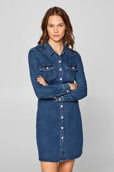 Esprit - Durchgeknöpftes Stretch-Jeans-Kleid 4e1980cf940fa