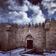 After the Snow Storm in Jerusalem