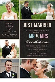 Wedding Announcements . Perfect for something small without a lot of people.