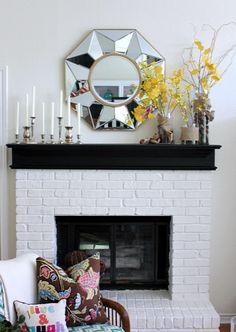 Hi Sugarplum | Simple & Elegant Fall Mantel