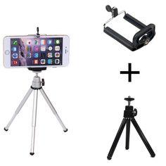 Statief + Clip Stand Beugel Houder Adapter Voor Gopro Digitale Camera Zelfontspanner Smart telefoon Voor iphone Samsung mobiele Telefoon