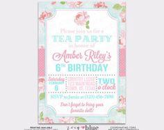 Princess Birthday Invitation Girl Gold Glitter by ZoeyBlueDesigns