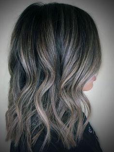 Dark Ash Blonde Highlights On Black Hair