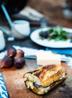 Fig and Cheddar Grilled Cheese via A House in the Hills